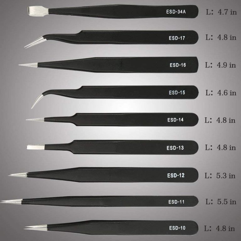 Pinzas precisión kit pcs pinzas ESD conjunto
